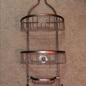 Bronze Metal Shower Caddy Organizer
